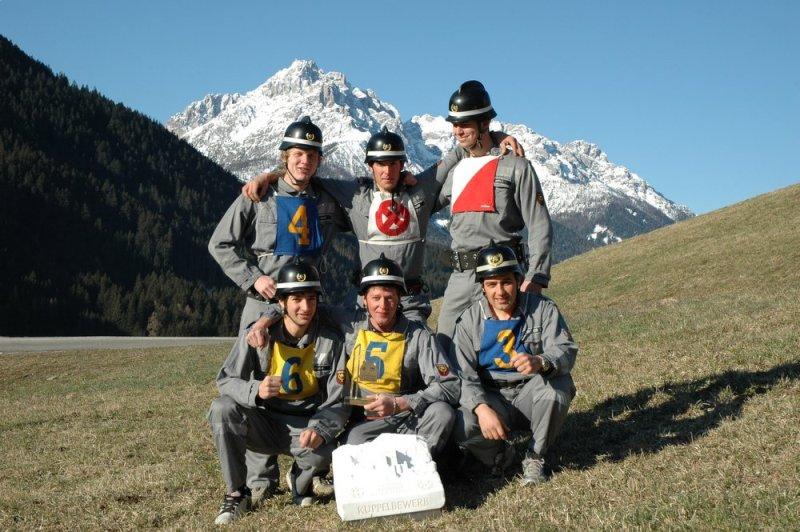 Bewerbsgruppe Winnebach - Sieger 2008