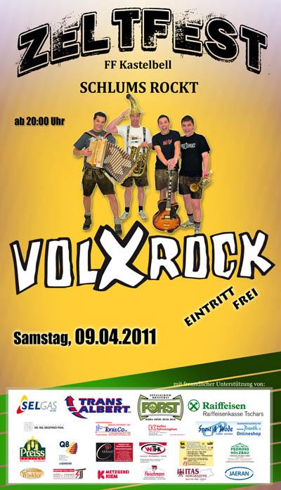 Plakat Zeltfest Kastelbell 2011