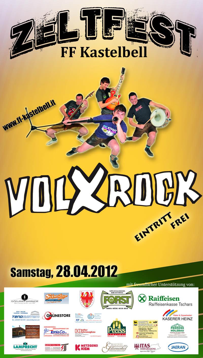 Plakat Zeltfest Kastelbell 2012